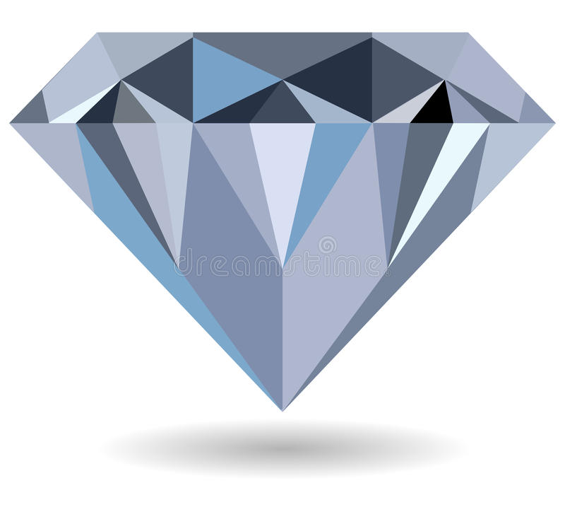 Diamond. Vector illustration of diamond on open hands