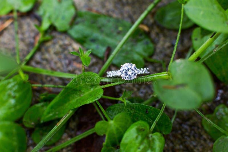 Diamond wedding ring royalty free stock image