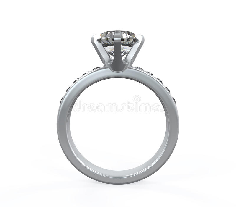 Diamond Wedding Ring immagine stock
