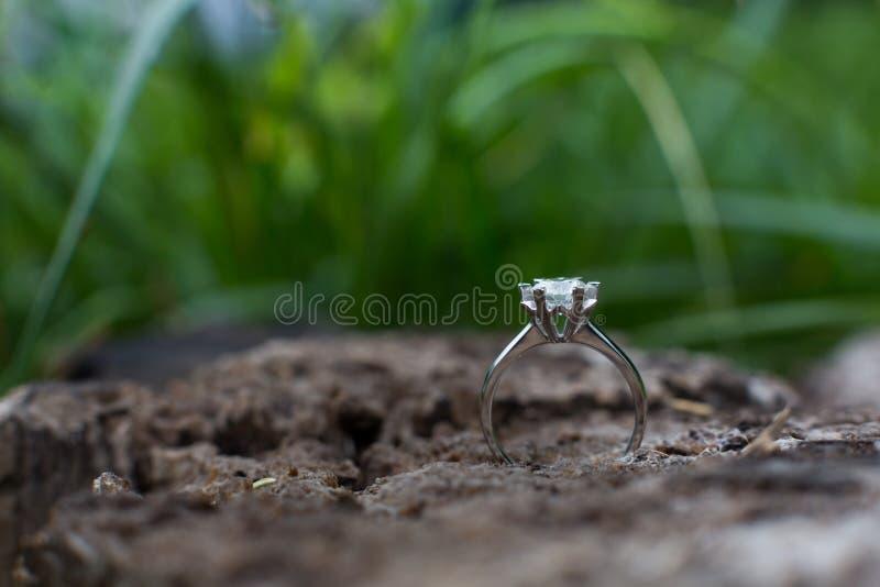 Diamond Wedding Ring imagenes de archivo