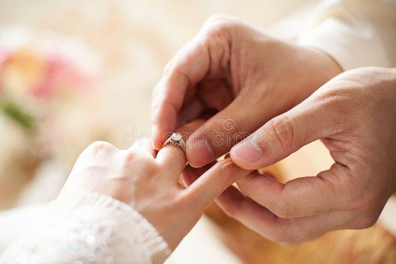 Diamond Wedding Ring foto de archivo libre de regalías