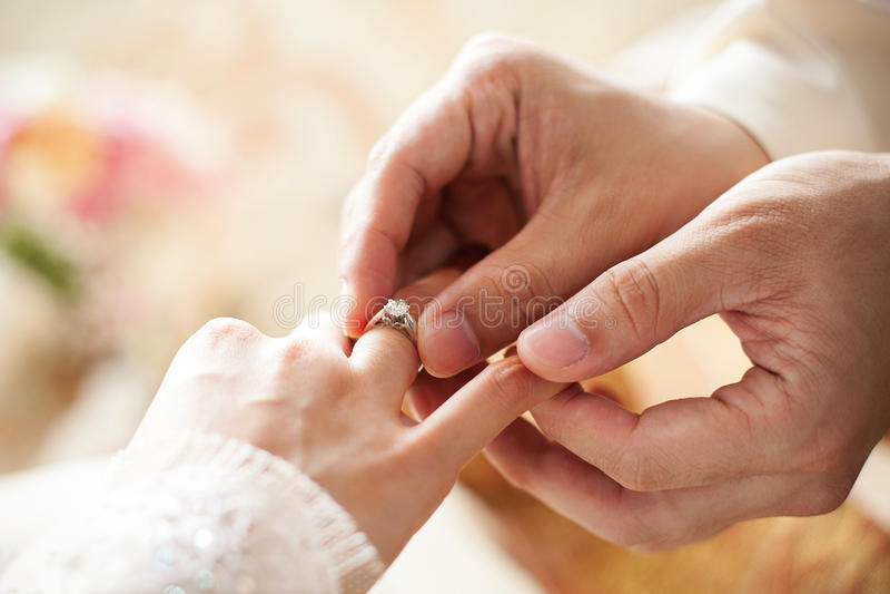 Diamond Wedding Ring royalty free stock photo