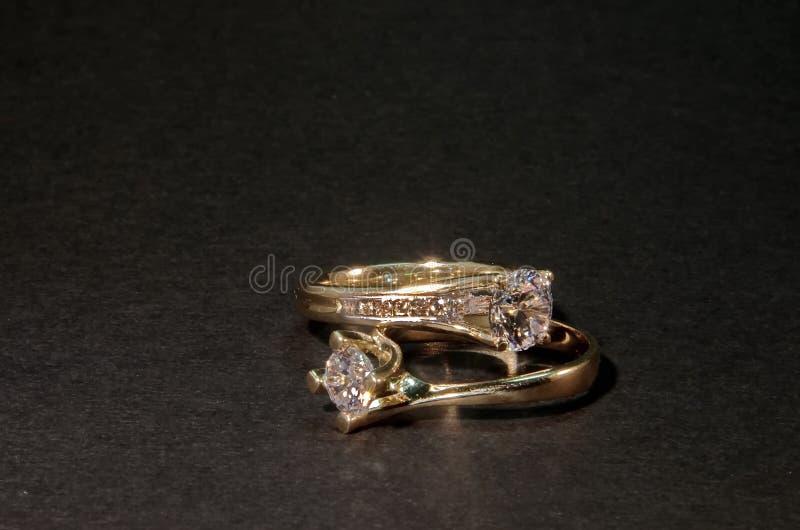 Diamond Wedding Rings fotografie stock