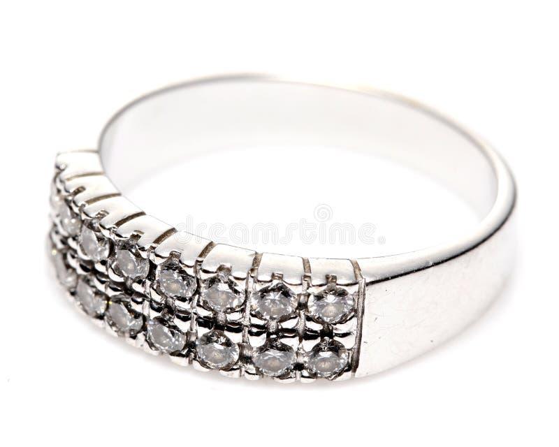Diamond White Gold Ring photos stock