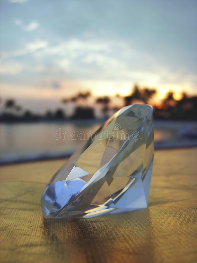 Free Diamond With Tropical Sunset Royalty Free Stock Photo - 2166025