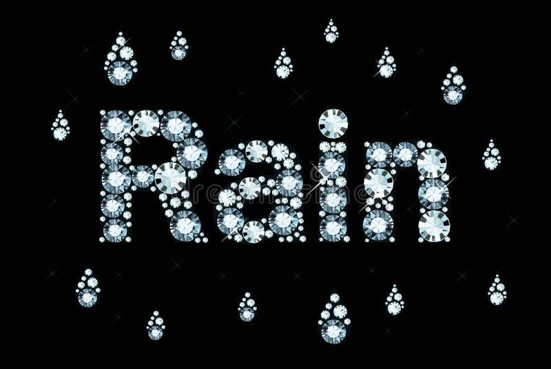 Diamond Word Rain vector illustration