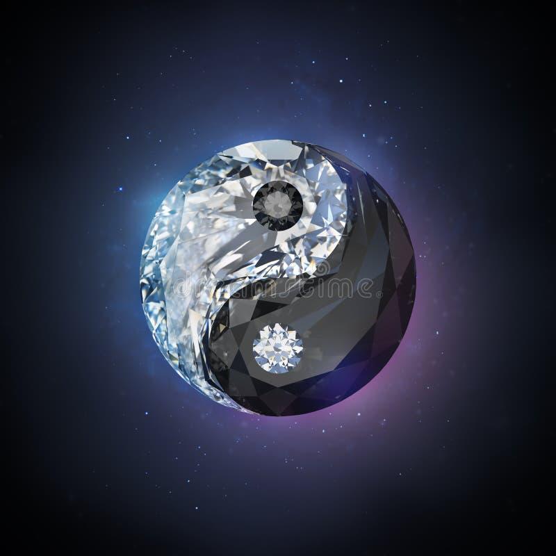 Diamond yin yang stock illustration