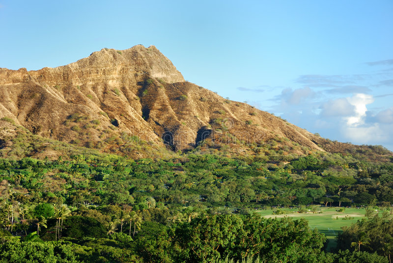 Diamondhead hawaii royalty free stock images