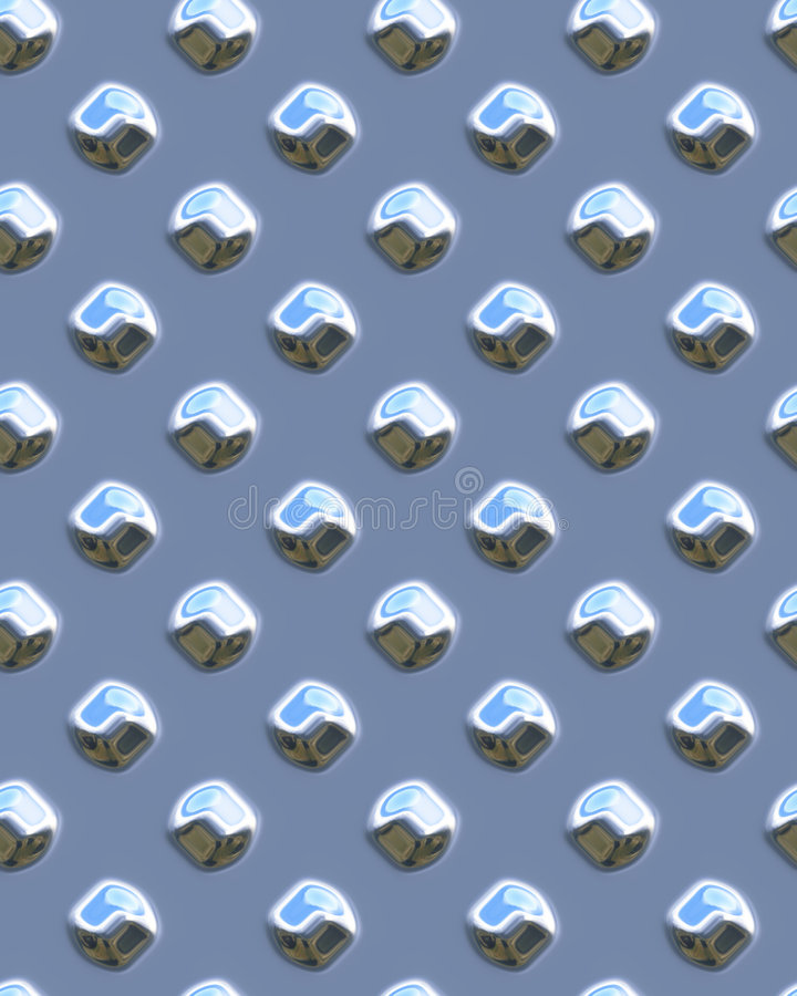Diamondplate brilhante azul do ponto ilustração do vetor