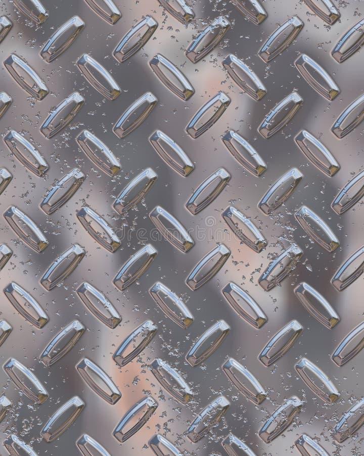 Diamondplate Brillante Del Cromo Imagenes de archivo