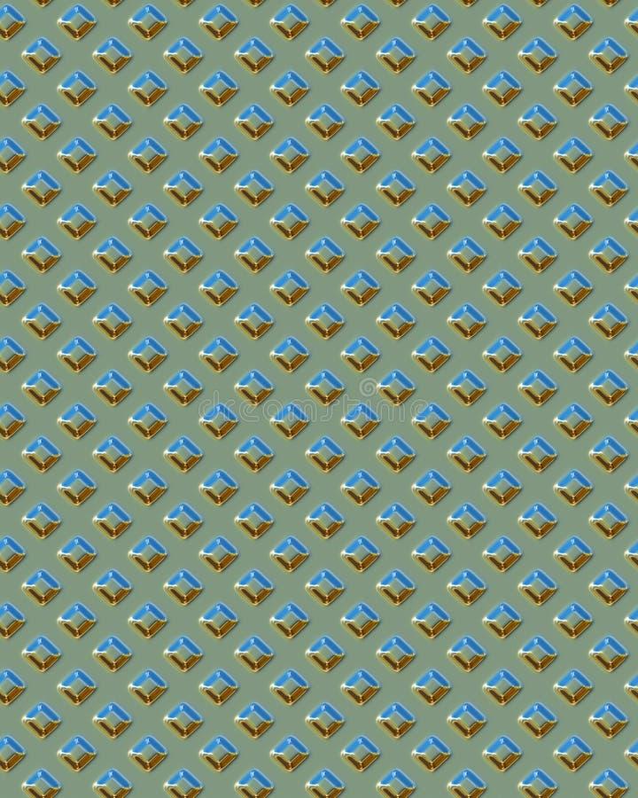 Diamondplate carré vert illustration de vecteur
