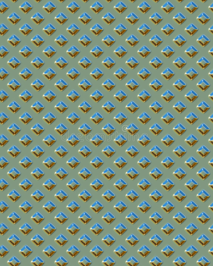 Diamondplate quadrado verde ilustração do vetor
