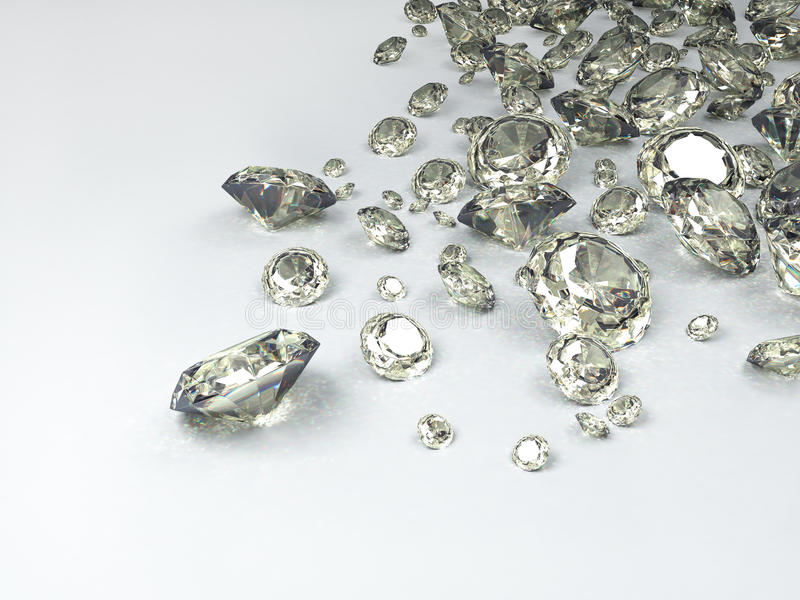 Diamonds. On white background; quality 3d render