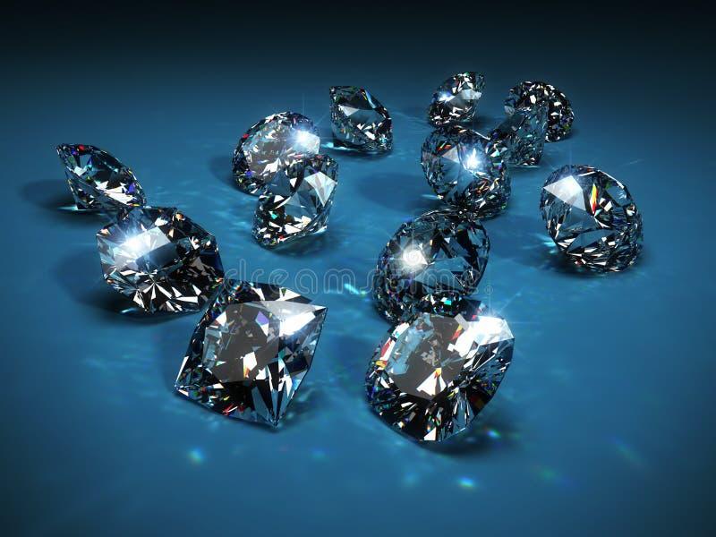 Diamonds. 3 d render illustration