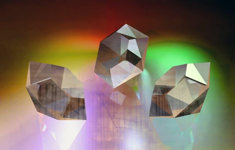 Diamonds vector illustration