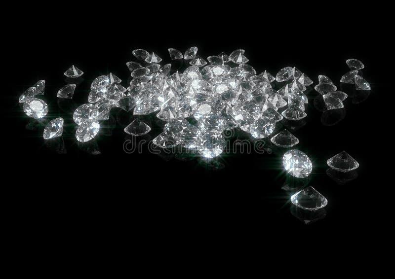 Download Diamonds stock image. Image of black, sapphire, gloss - 18152507