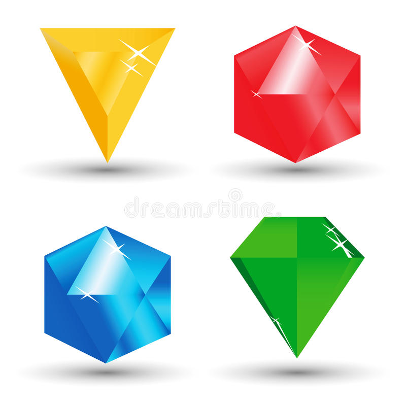 Download Diamonds stock vector. Illustration of isolated, render - 9999496