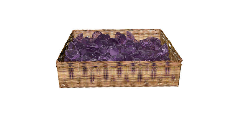 Diamonds in the basket stock photos