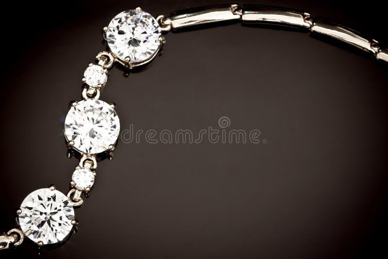 Diamonds bracelet stock photo
