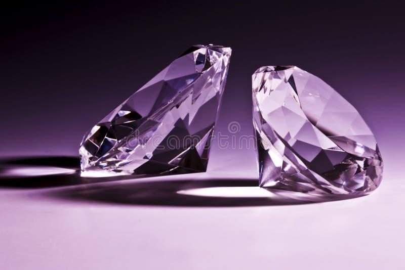 Diamonds close-up royalty free stock photos