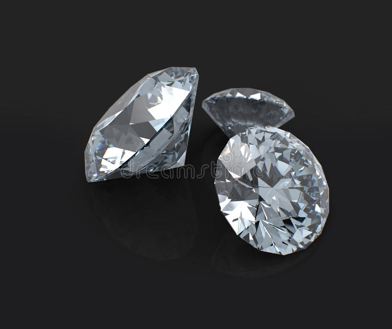 Download Diamonds Clouse Up On Black Stock Illustration - Illustration: 25298890