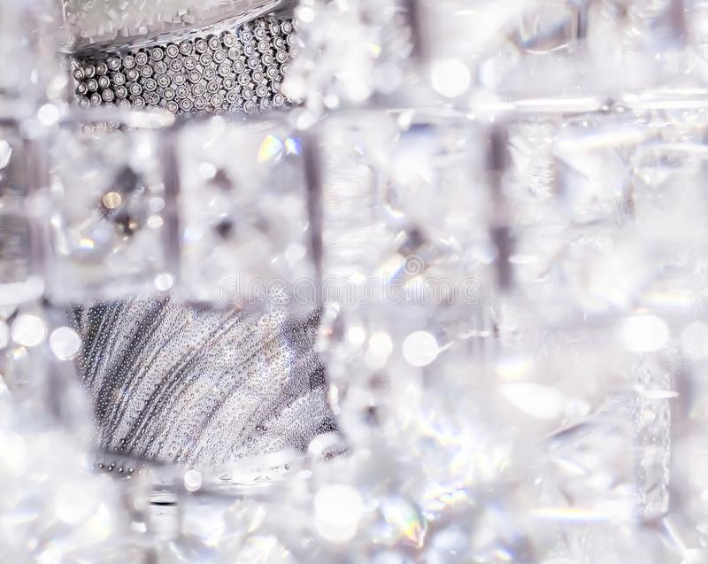 Diamonds and crystals, luxury textured background. Gemstone, jewellery design and luxurious shopping concept - Diamonds and crystals, luxury textured background royalty free stock photography