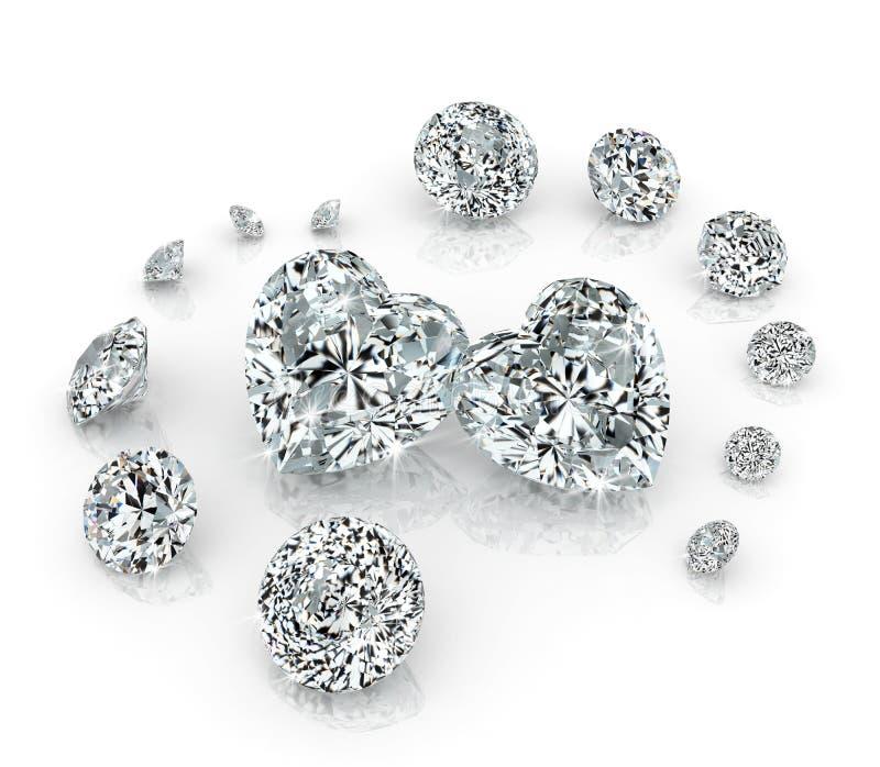 Diamonds group royalty free stock photography