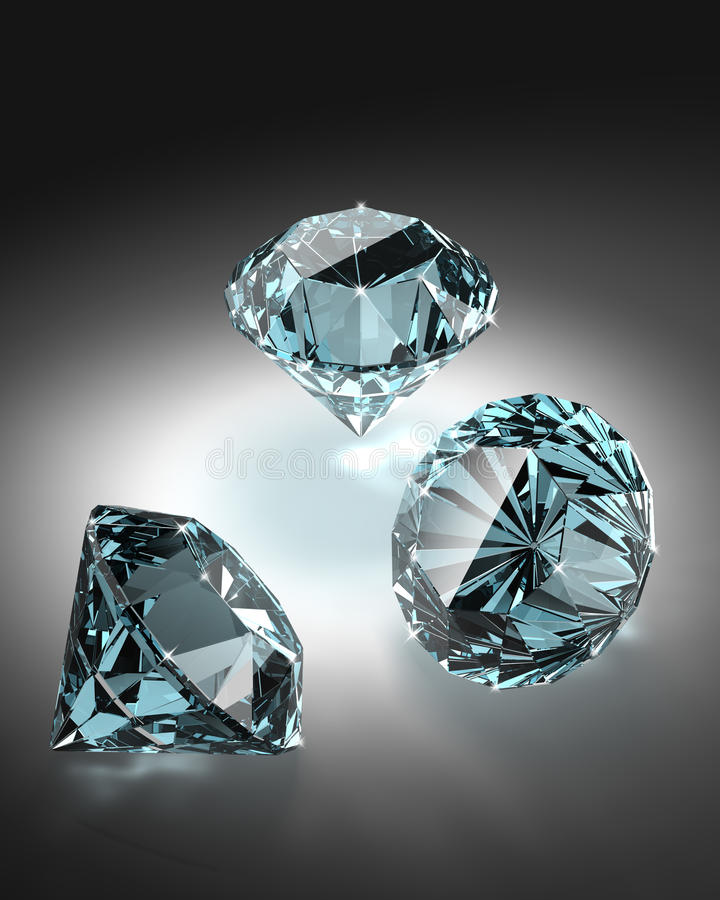 Diamonds group. royalty free stock photo
