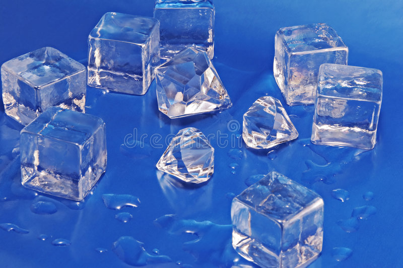 Diamonds and Ice stock images