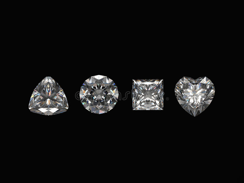 Diamonds isolated on black background vector illustration