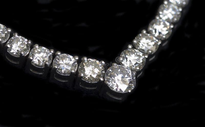 Diamonds Necklace stock photos