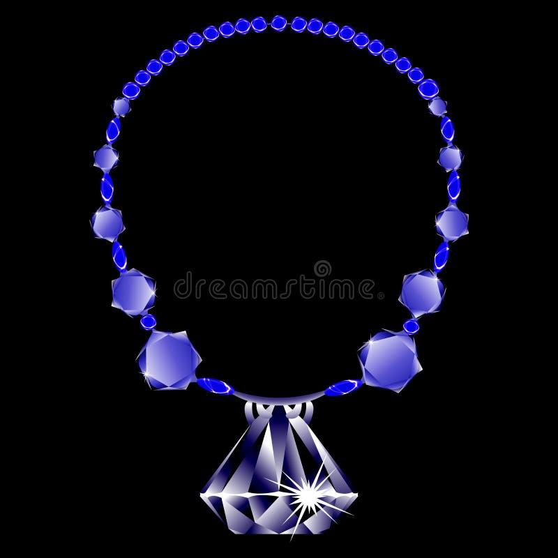 Diamonds Necklace Royalty Free Stock Photos