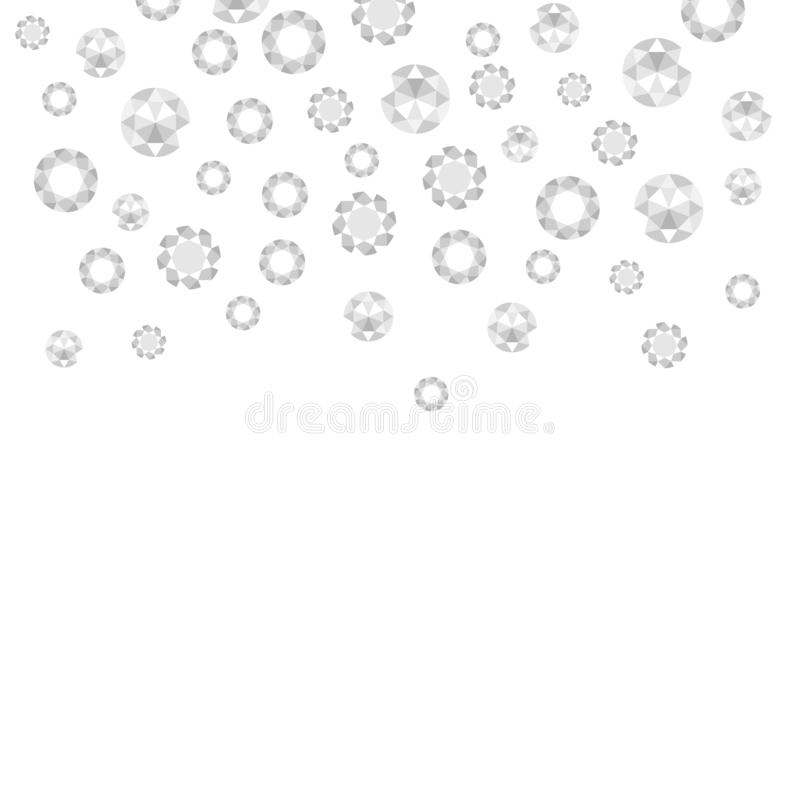 Diamonds are precious jewels. A background for jewelry stores stock illustration