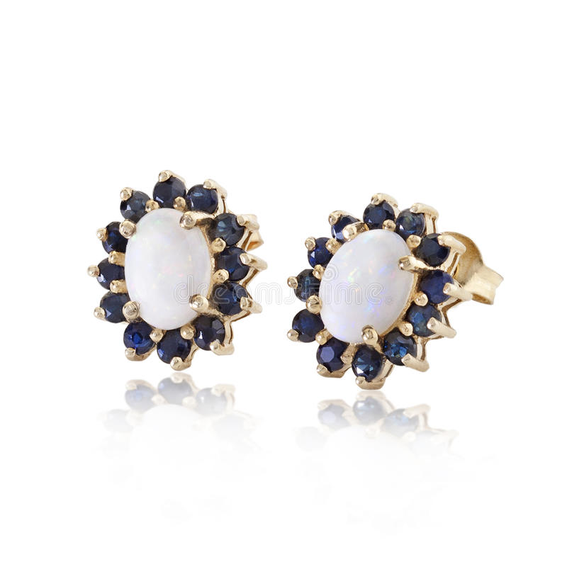 Download Diamonds And Sapphire Earrings Stock Image - Image: 28150173