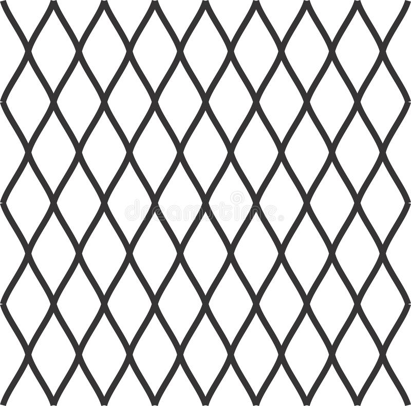 Diamonds seamless diagonal pattern. Rhombuses texture, mesh background. Diamonds seamless pattern. Vector rhombuses geometric texture. Simple abstract monochrome stock illustration