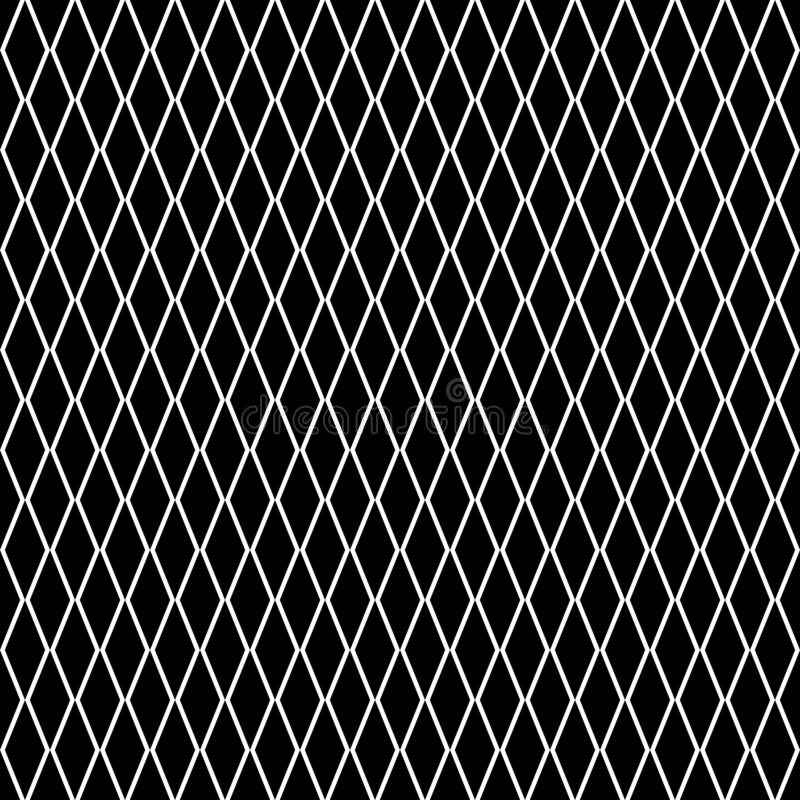 Diamonds seamless diagonal pattern. Rhombuses texture, mesh background. Diamonds seamless pattern. Vector rhombuses geometric texture. Simple abstract monochrome vector illustration