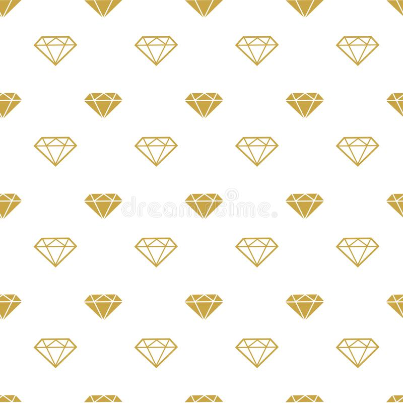 download diamonds seamless pattern vector girly background with gold brilliants stock vector illustration