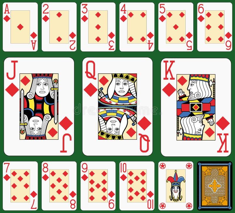 Diamonds Suite Black Jack large figures royalty free illustration