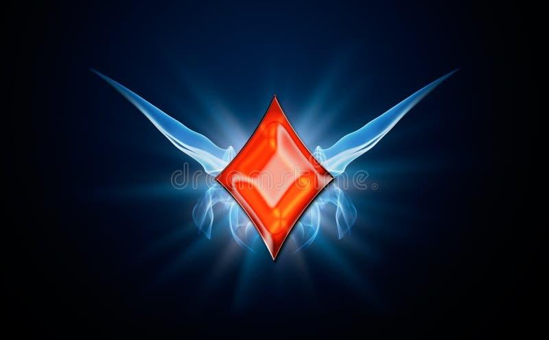 Diamonds, symbol of Poker royalty free stock images