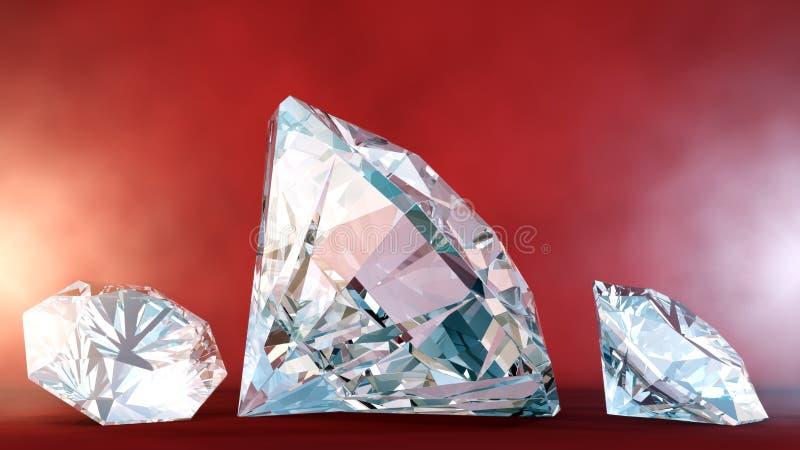 Diamonds On Velvet Background royalty free illustration