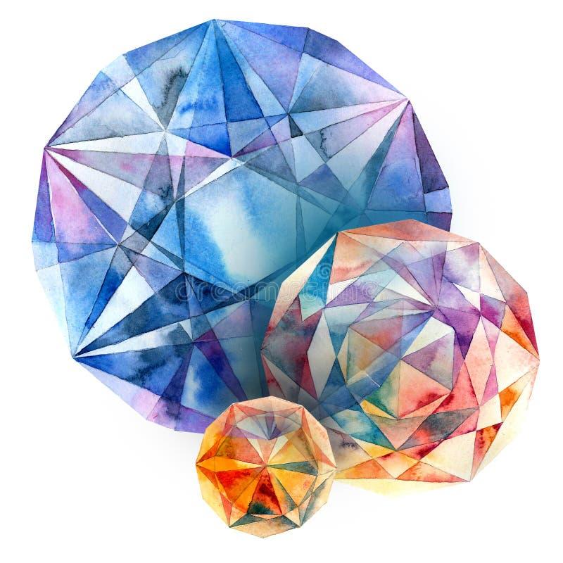 Diamonds. stock illustration