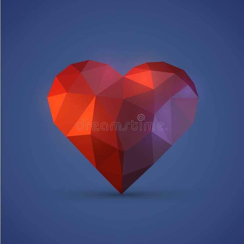 Diamont serce na błękitnym tle ilustracja wektor