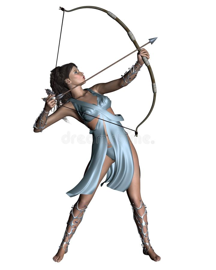 Diana (Artemis) le Huntress illustration stock