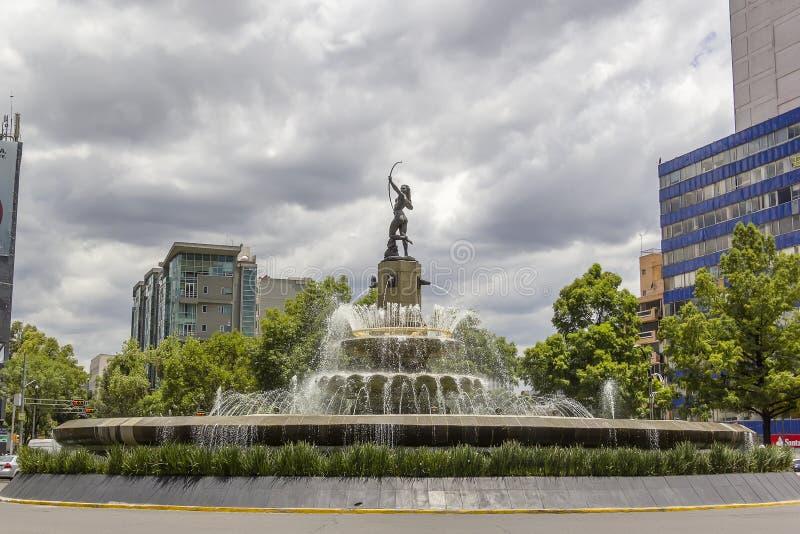 Diana Cazadora Fountain lizenzfreies stockbild