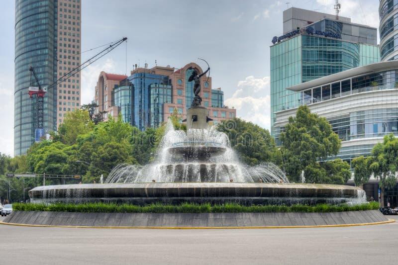 Diana Cazadora Fountain - Mexiko City lizenzfreie stockbilder