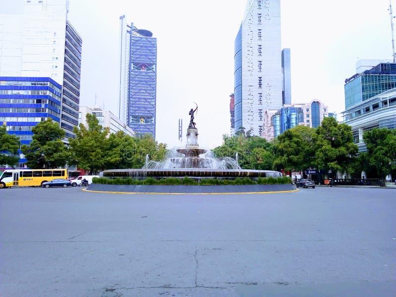 Diana Cazadora. Paseo De La Reforma, Cuidad De Mexico royalty free stock image