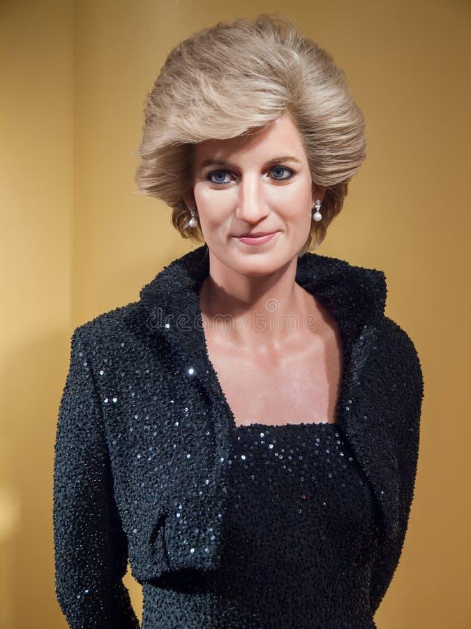Diana, estatua de la cera de la Princesa de Gales foto de archivo