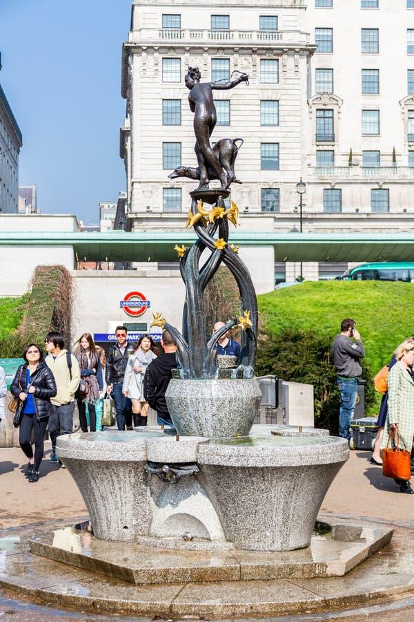 Diana fontanny statua zdjęcie royalty free