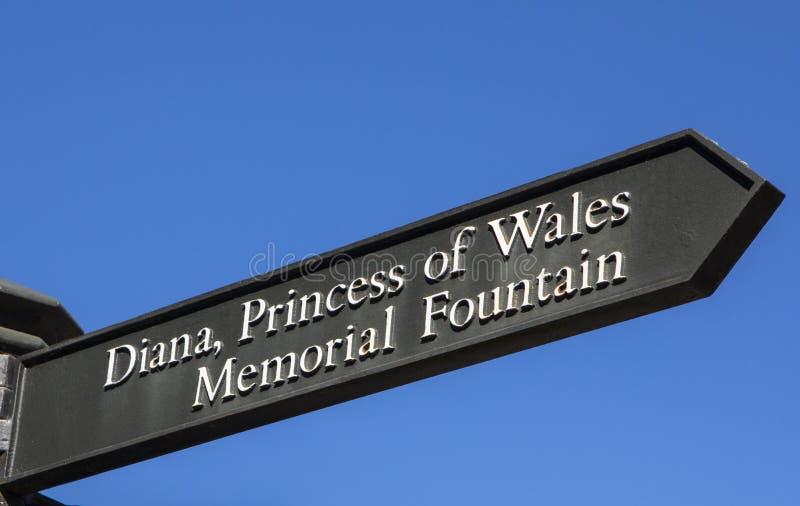 Diana Princess de la fuente conmemorativa de País de Gales en Londres fotografía de archivo libre de regalías