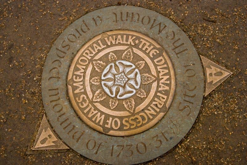 Diana Princess of Wales Memorial Walk, Hyde Park, London, England. Diana Princess of Wales Memorial Walk sign in Hyde Park, London, Englan royalty free stock photo